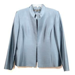 ALBERT NIPON Blue Gray Blazer Jacket Size 16